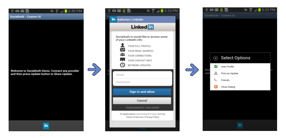 Part 2: Using SocialAuth to Integrate LinkedIn API in Android