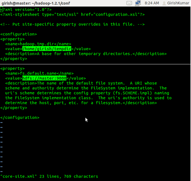 Modify Hadoop configuration