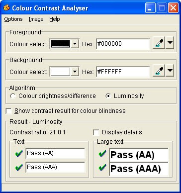 Color Contrast Analyser