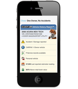 CARFAX Reports iPhone App