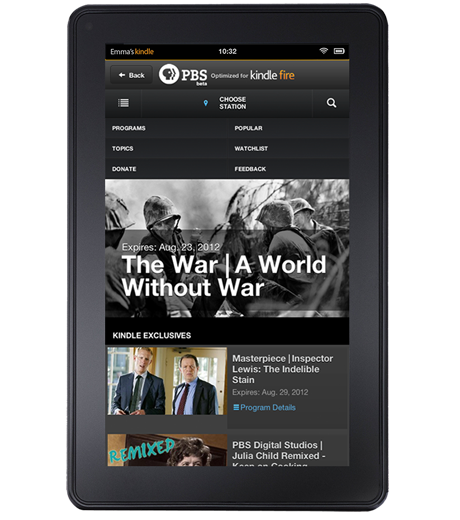 PBS video app for Kindle Fire