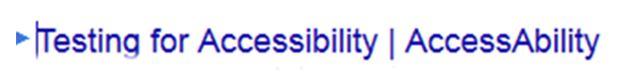 accessible web design