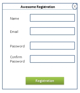 mockup registration