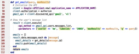 Gmail API Integration with Rudy