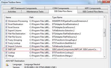 SSIS Custom Transformation Component: INITCAP